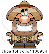 Clipart Happy Hispanic Bandit Royalty Free Vector Illustration