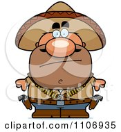 Clipart Calm Hispanic Bandit Royalty Free Vector Illustration