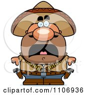 Clipart Scared Hispanic Bandit Royalty Free Vector Illustration