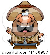 Clipart Hispanic Bandit With An Idea Royalty Free Vector Illustration by Cory Thoman