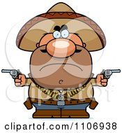 Clipart Angry Hispanic Bandit Royalty Free Vector Illustration by Cory Thoman