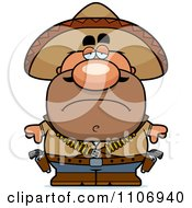 Clipart Depressed Hispanic Bandit Royalty Free Vector Illustration by Cory Thoman