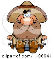 Clipart Sitting Hispanic Bandit Royalty Free Vector Illustration