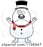 Clipart Angry Pudgy Snowman Royalty Free Vector Illustration by Cory Thoman
