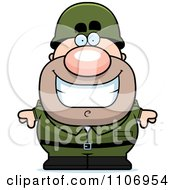 Clipart Smiling Male Army Soldier Royalty Free Vector Illustration