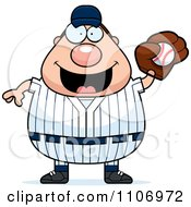 Clipart Male Baseball Player Catching A Ball Royalty Free Vector Illustration by Cory Thoman