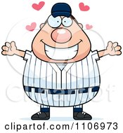 Clipart Amorous Male Baseball Player Royalty Free Vector Illustration