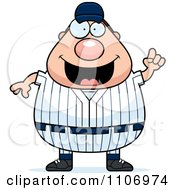 Clipart Male Baseball Player With An Idea Royalty Free Vector Illustration