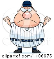 Clipart Angry Male Baseball Player Royalty Free Vector Illustration