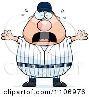Clipart Stressed Male Baseball Player Royalty Free Vector Illustration