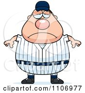 Clipart Depressed Male Baseball Player Royalty Free Vector Illustration