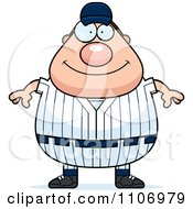 Clipart Happy Male Baseball Player Royalty Free Vector Illustration by Cory Thoman