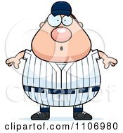 Clipart Surprised Male Baseball Player Royalty Free Vector Illustration