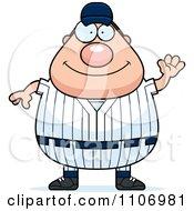 Clipart Waving Male Baseball Player Royalty Free Vector Illustration