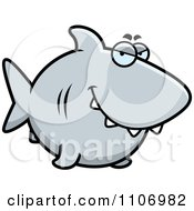 Clipart Sly Shark Royalty Free Vector Illustration by Cory Thoman