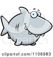 Clipart Happy Shark Royalty Free Vector Illustration by Cory Thoman