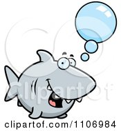 Clipart Talking Shark Royalty Free Vector Illustration