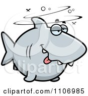 Clipart Drunk Shark Royalty Free Vector Illustration by Cory Thoman