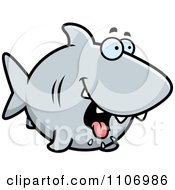 Clipart Drooling Hungry Shark Royalty Free Vector Illustration by Cory Thoman