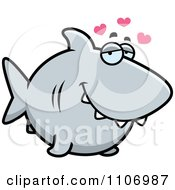 Clipart Shark In Love Royalty Free Vector Illustration by Cory Thoman