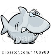 Clipart Angry Shark Royalty Free Vector Illustration