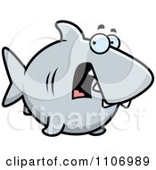 Clipart Scared Shark Royalty Free Vector Illustration by Cory Thoman