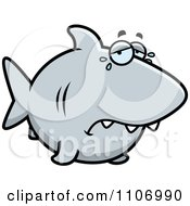 Clipart Crying Shark Royalty Free Vector Illustration by Cory Thoman