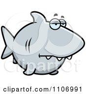 Clipart Sad Shark Royalty Free Vector Illustration