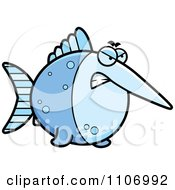Clipart Angry Swordfish Royalty Free Vector Illustration by Cory Thoman
