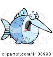 Clipart Scared Swordfish Royalty Free Vector Illustration by Cory Thoman