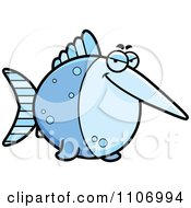 Clipart Sly Swordfish Royalty Free Vector Illustration by Cory Thoman
