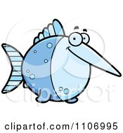 Clipart Happy Swordfish Royalty Free Vector Illustration by Cory Thoman