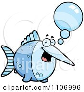 Clipart Talking Swordfish Royalty Free Vector Illustration by Cory Thoman