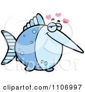 Clipart Amorous Swordfish Royalty Free Vector Illustration by Cory Thoman