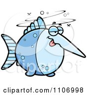 Clipart Drunk Swordfish Royalty Free Vector Illustration by Cory Thoman