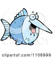 Clipart Hungry Swordfish Royalty Free Vector Illustration