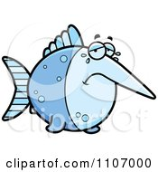 Clipart Crying Swordfish Royalty Free Vector Illustration by Cory Thoman