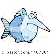 Clipart Depressed Swordfish Royalty Free Vector Illustration by Cory Thoman