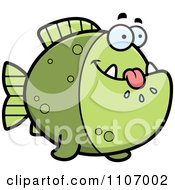 Clipart Hungry Green Piranha Fish Royalty Free Vector Illustration by Cory Thoman