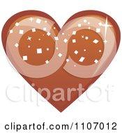 Clipart Heart Dark Chocolate Bonbon Royalty Free Vector Illustration by Amanda Kate