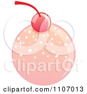 Clipart Round Pink Bonbon With A Cherry Royalty Free Vector Illustration by Amanda Kate