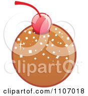 Clipart Round Milk Chocolate Bonbon With A Cherry Royalty Free Vector Illustration by Amanda Kate