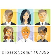 Clipart Diverse Business Men And Women Avatars Royalty Free Vector Illustration