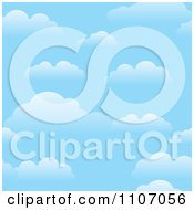 Clipart Blue Sky Background With Puffy Clouds Royalty Free Vector Illustration by Amanda Kate