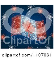 Clipart Canada Day Fireworks In The Shape Of The Maple Leaf Flag Royalty Free Vector Illustration by Amanda Kate