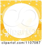 Clipart White Circle Frame Over Yellow With Flowers Royalty Free Vector Illustration by Character Market