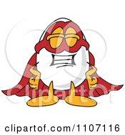 Egg Mascot Character Super Hero