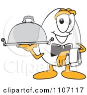 Clipart Egg Mascot Character Waiter With A Platter Royalty Free Vector Illustration by Toons4Biz