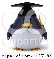 Clipart 3d Penguin Graduate Royalty Free CGI Illustration
