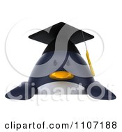 Clipart 3d Penguin Graduate With A Sign 1 Royalty Free CGI Illustration